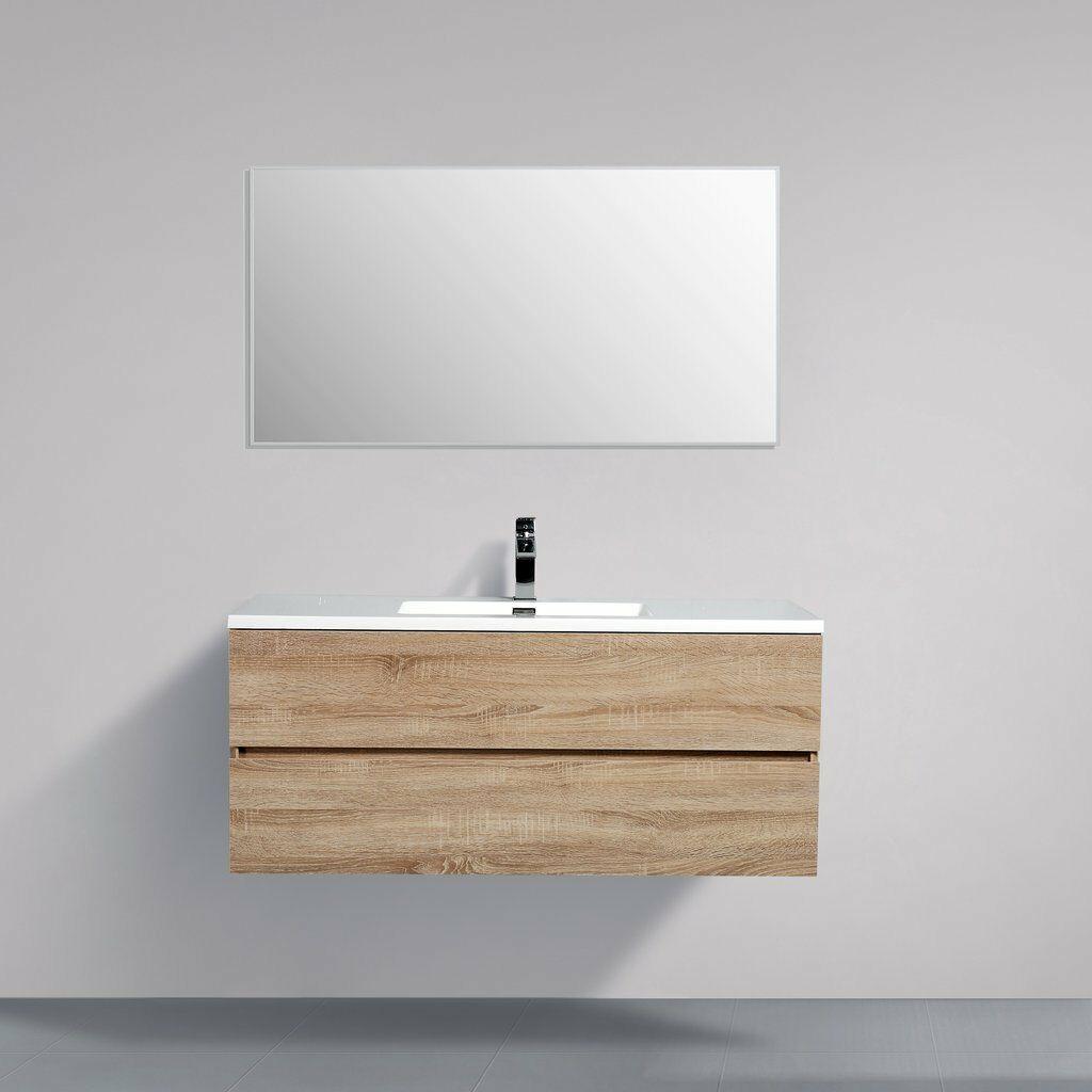 Avia 1200 White Oak Timber Wood Grain Wall Hung Bathroom Vanity Unit Indulge Ebay Wall Hung Bathroom Vanities Timber Wood Bathroom Vanity Units