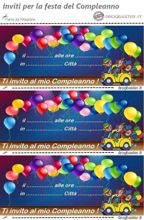 Inviti Per La Festa Di Compleanno Da Scaricare E Stampare Gratis