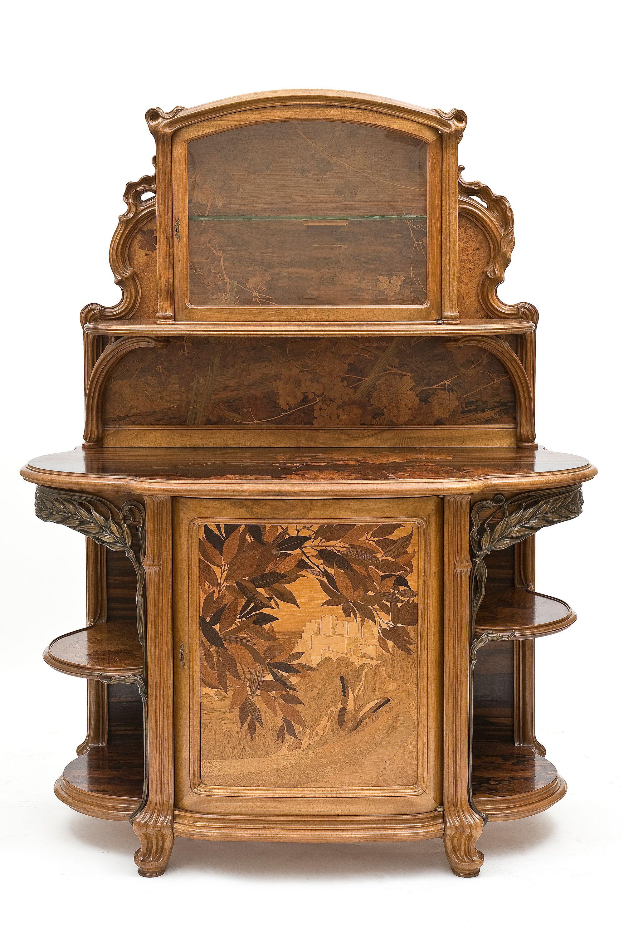 Buffet Les Vendanges Emile Galle 1846 1904 Nancy Vers 1904 Mobilier De La Salle A Manger Commande A Emile Meubles Art Nouveau Art Deco Mobilier D Art