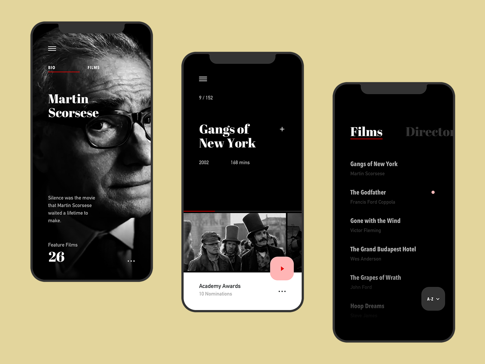 Film Club App App design, Mobile design inspiration