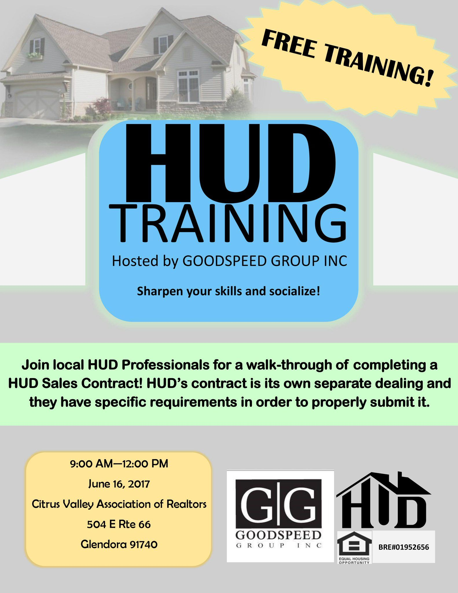 Free Home Sale Contract Free Hud Training Event Providedgoodspeed Group Inc 760245 .