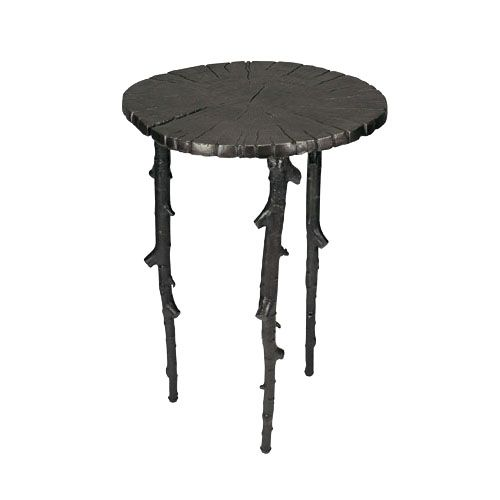 Enchanted Forest Side Table Oxidized Michaelaraminc Cast Metal Copper Table Forest Cafe Cafe Tables