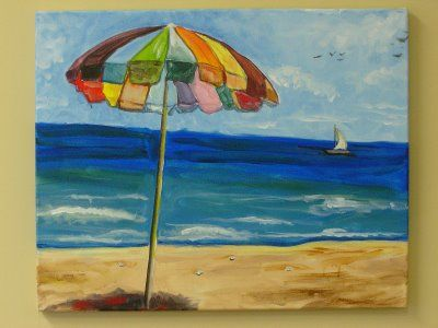 Beach Umbrella Painting Painting Inspiration Umbrella