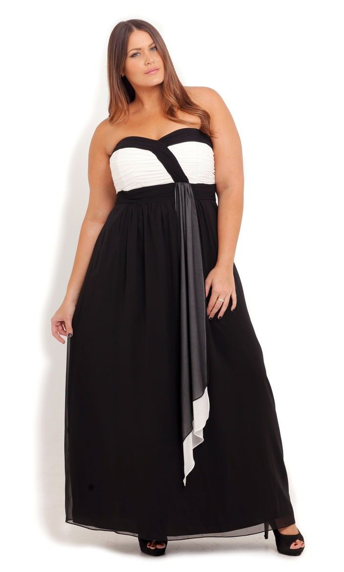 Plus size chloe drape maxi dress city chic city chic courtney