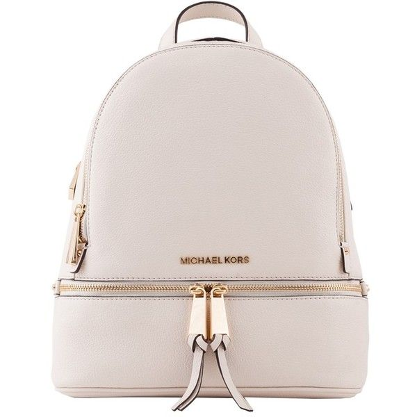 Michael Kors Cream Rhea Small Leather Backpack (1 05e9f6ea96e98