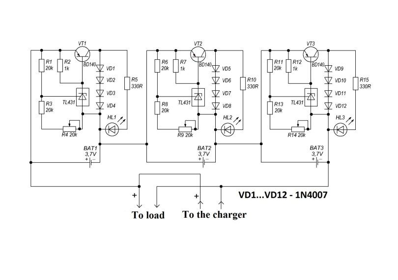 Bms Circuit Lithium Ion Batteries Electronics Projects Circuit Diagram