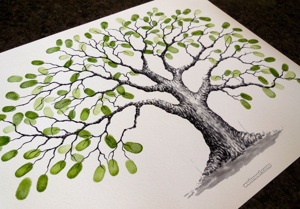 30 beautiful tree drawings and creative art ideas from top artists - Tree Drawings