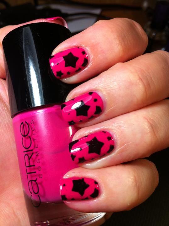 estrellado con rosa