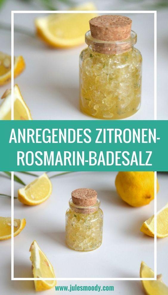 Gute Laune Faktor garantiert: Anregendes & stärkendes Zitronen-Rosmarin-Badesalz zum Muttertag! #homegifts