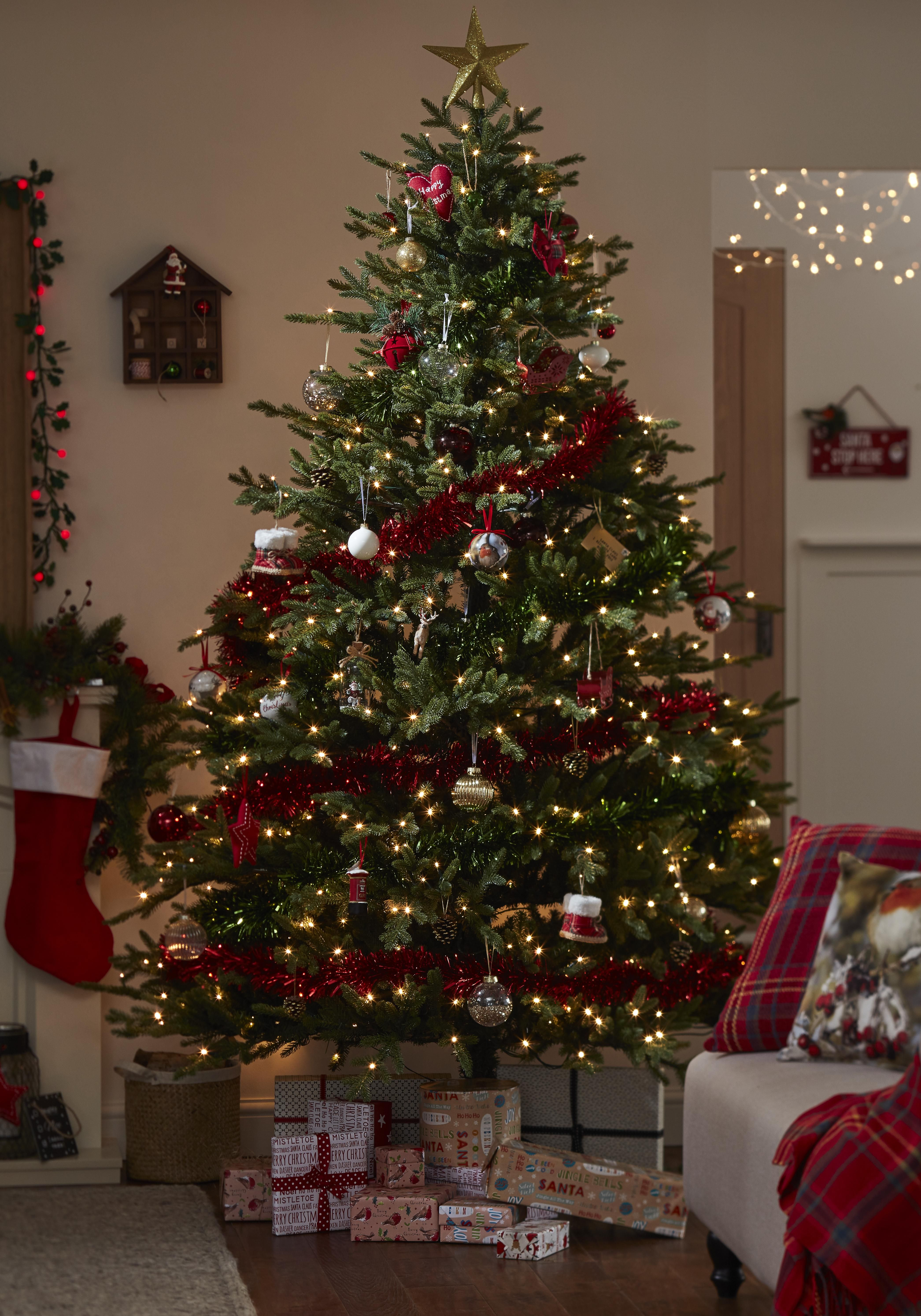 Our Glitter Bomb Winterfold Tree In Situ Pre Decorated Christmas Tree Christmas Tree Decorations Diy Christmas Tree