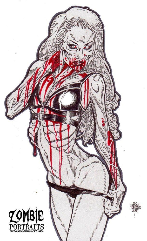 Zombie sex zombie art rob sacchetto