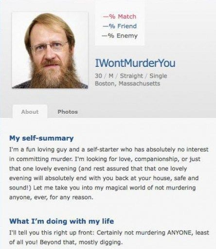 Funny internet dating profiles
