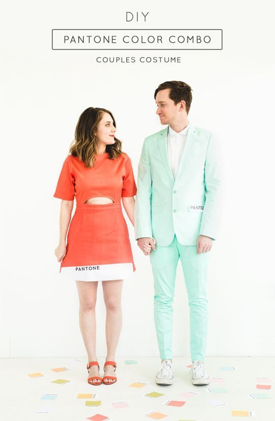 DIY Pantone Color Combo Couples Costume Pantone color, Halloween - couples funny halloween costume ideas