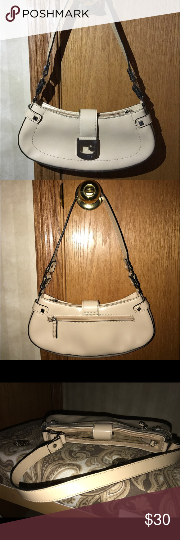 Small Guess purse almost new. Beige and silver with buckle. Guess Bags  Shoulder Bags bc9f6b4b3c04e