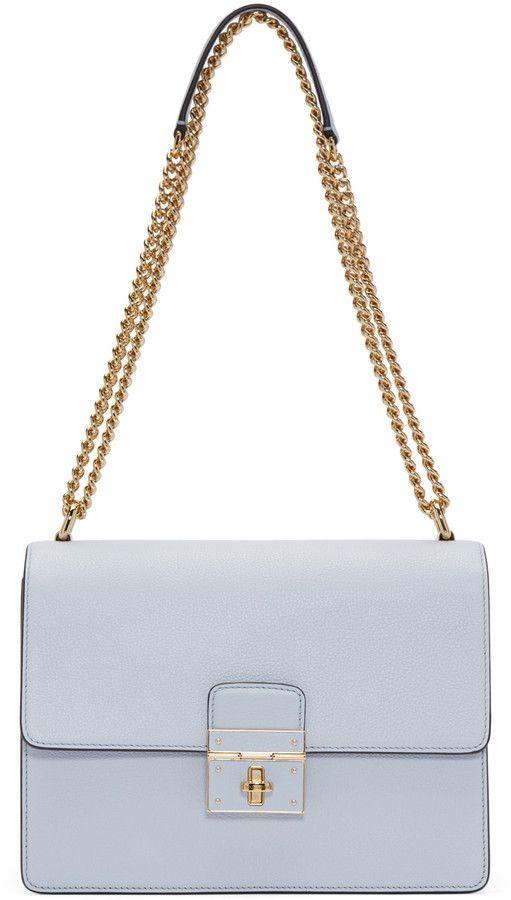 e874b4f74cf Dolce   Gabbana Blue Leather Medium Rosalia Bag   BAGZ   Pinterest ...