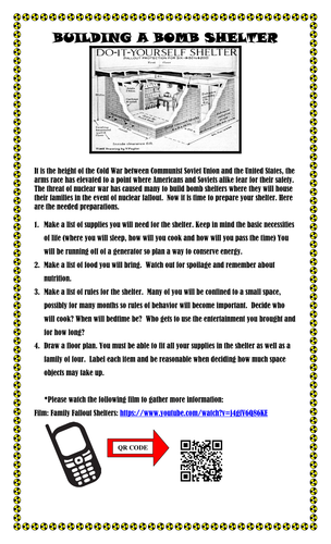 cold war build a bomb shelter activity informational video the rh pinterest com Guided Reading Strategies Guided Reading Groups