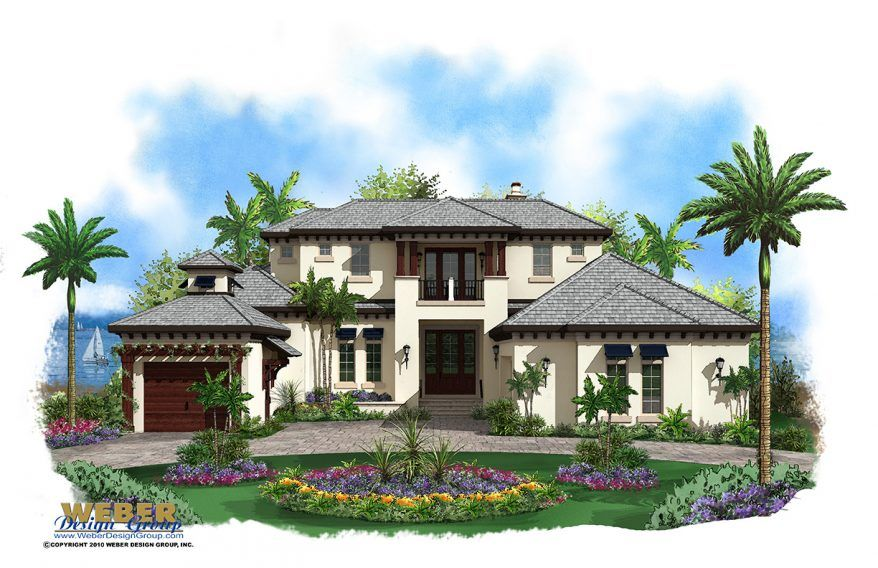 Caribbean House Plan 2 Story Coastal Contemporary Floor Plan House Plans With Pictures Mediterranean Style House Plans Beach House Plans