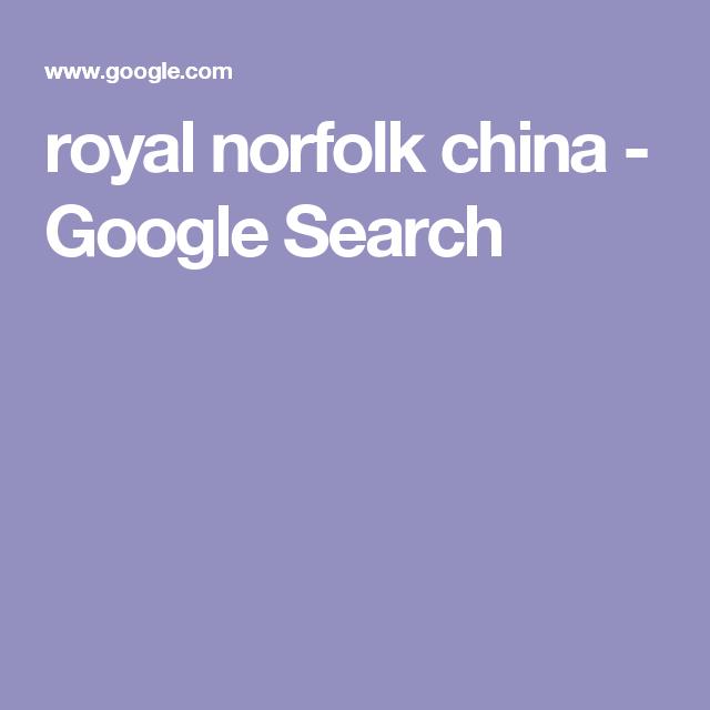 royal norfolk china - Google Search