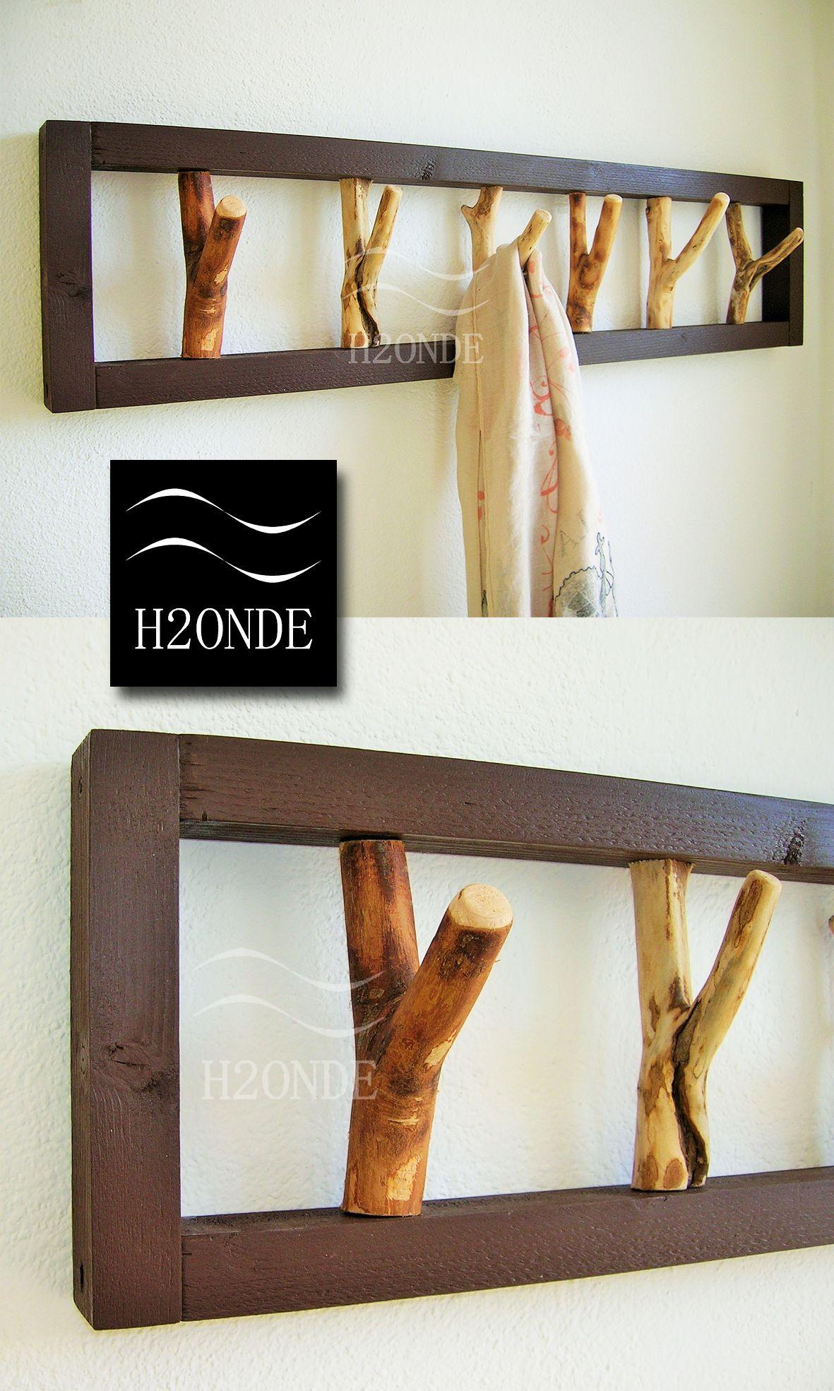 Arredamento Rustico Casa wood tree branch hook coat rack mounted garment rustic