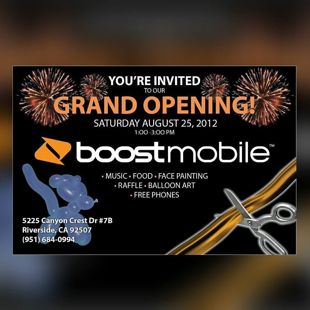 Boostmobile Store Grand Opening Flyer Design WwwArmgdCom Link Is