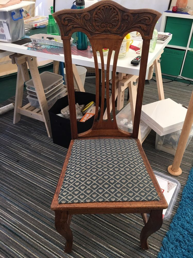 Four Beautiful Old Timber dining chairs  eBay