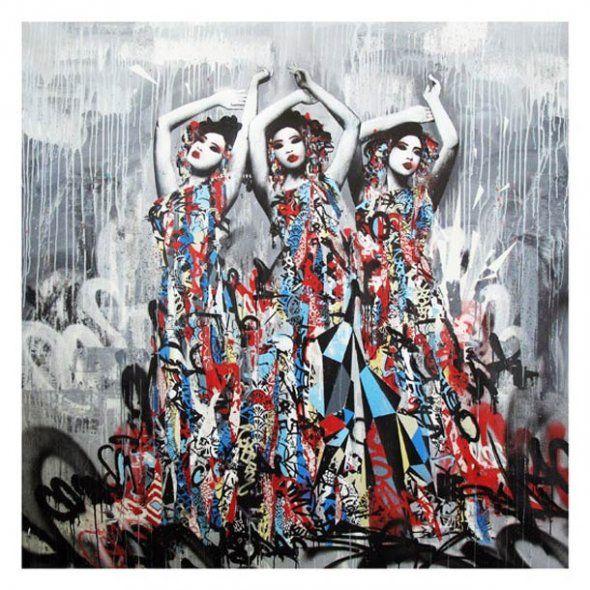 Geisha Street Art Hush #ravenectar #streetart #art #graffiti