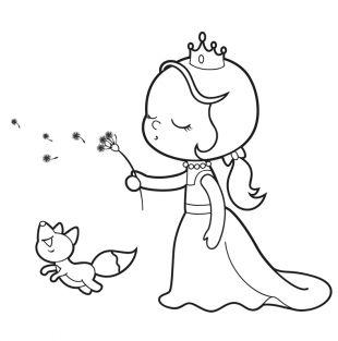 Kostenlose Malvorlage Prinzessin Kostenlose Malvorlage Prinzessin Mit Pusteblume Zum Au Malvorlage Prinzessin Ausmalbilder Prinzessin Prinzessin Illustration