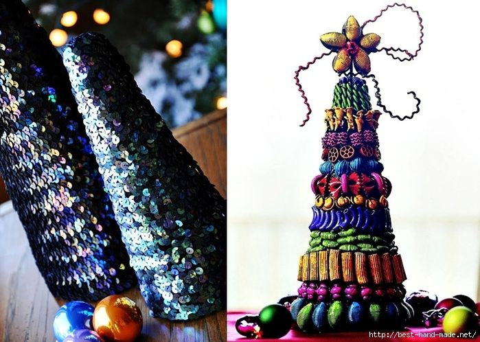 Christmas tree toppers - Jewelry, sequins Christmas Tree (700x498