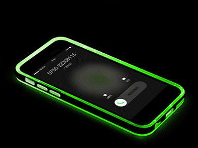 Cool LED Blink Light Remind Call TPU+PC Cover
