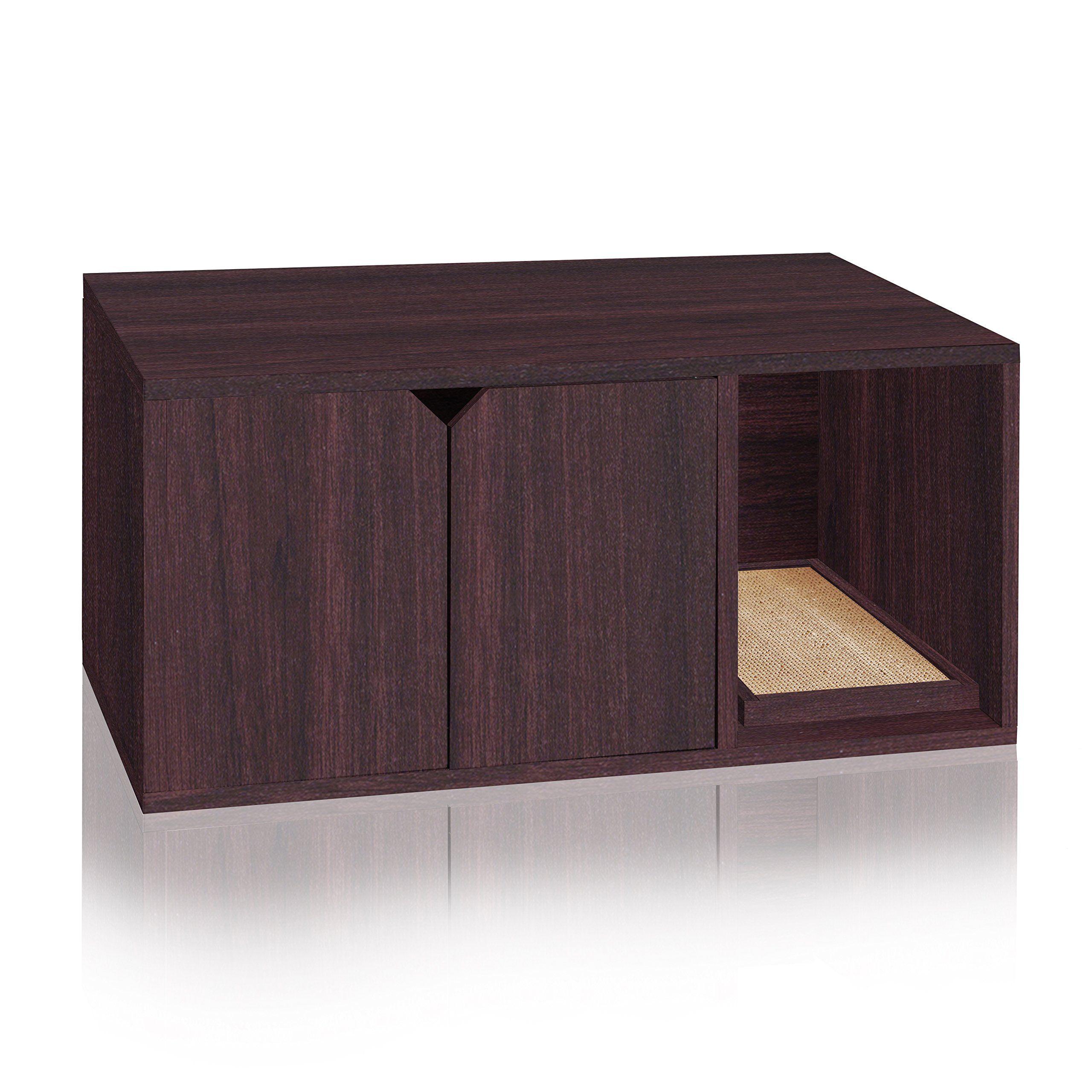 Way Basics Eco Friendly Modern Cat Litter Box Furniture