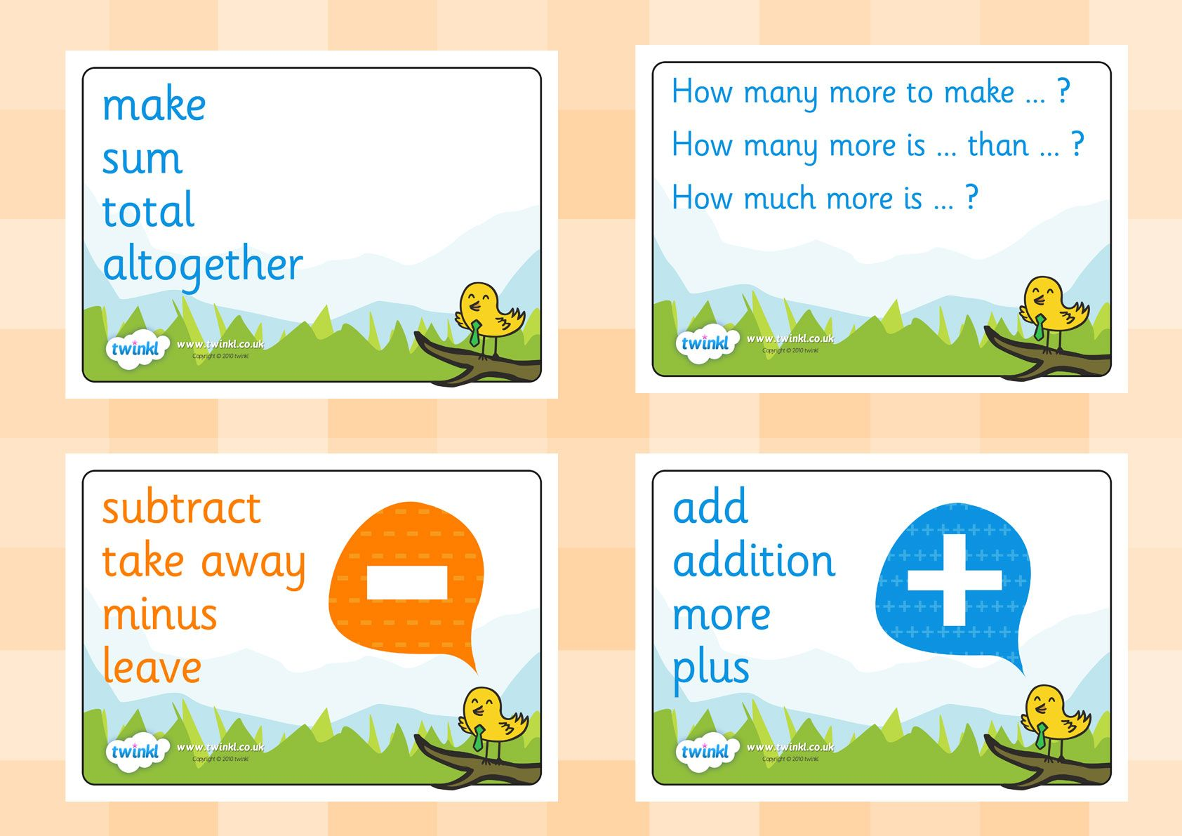 Twinkl Resources Maths Vocab Signs Posters Printable Resources