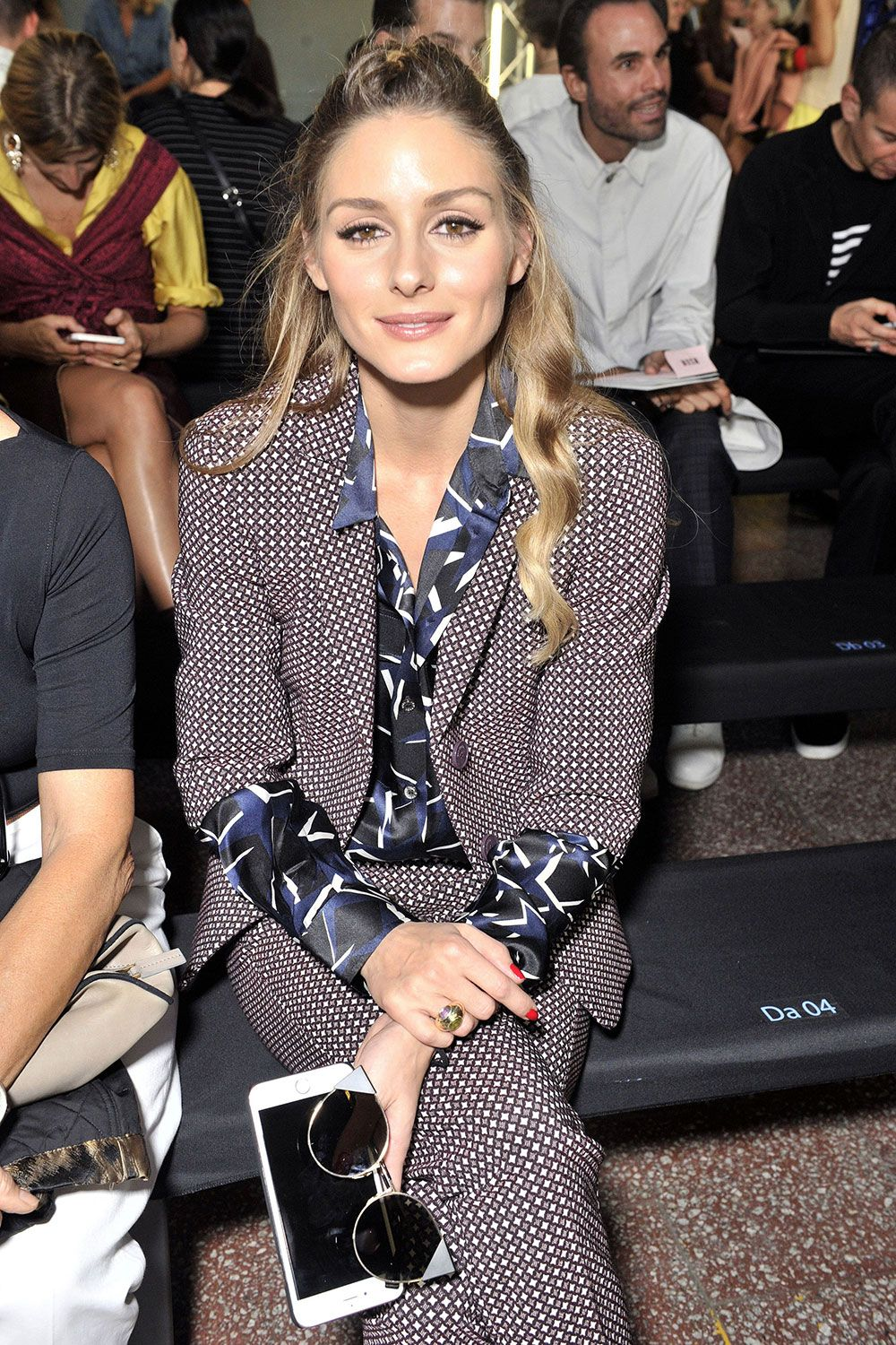 Olivia Palermo on the MSGM front row during Milan Fashion Week - September 2016 #opss17mfw