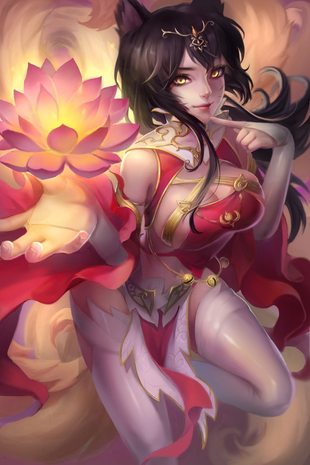 Artstation Ahri Chinese Style Nine M Interes Dibujos