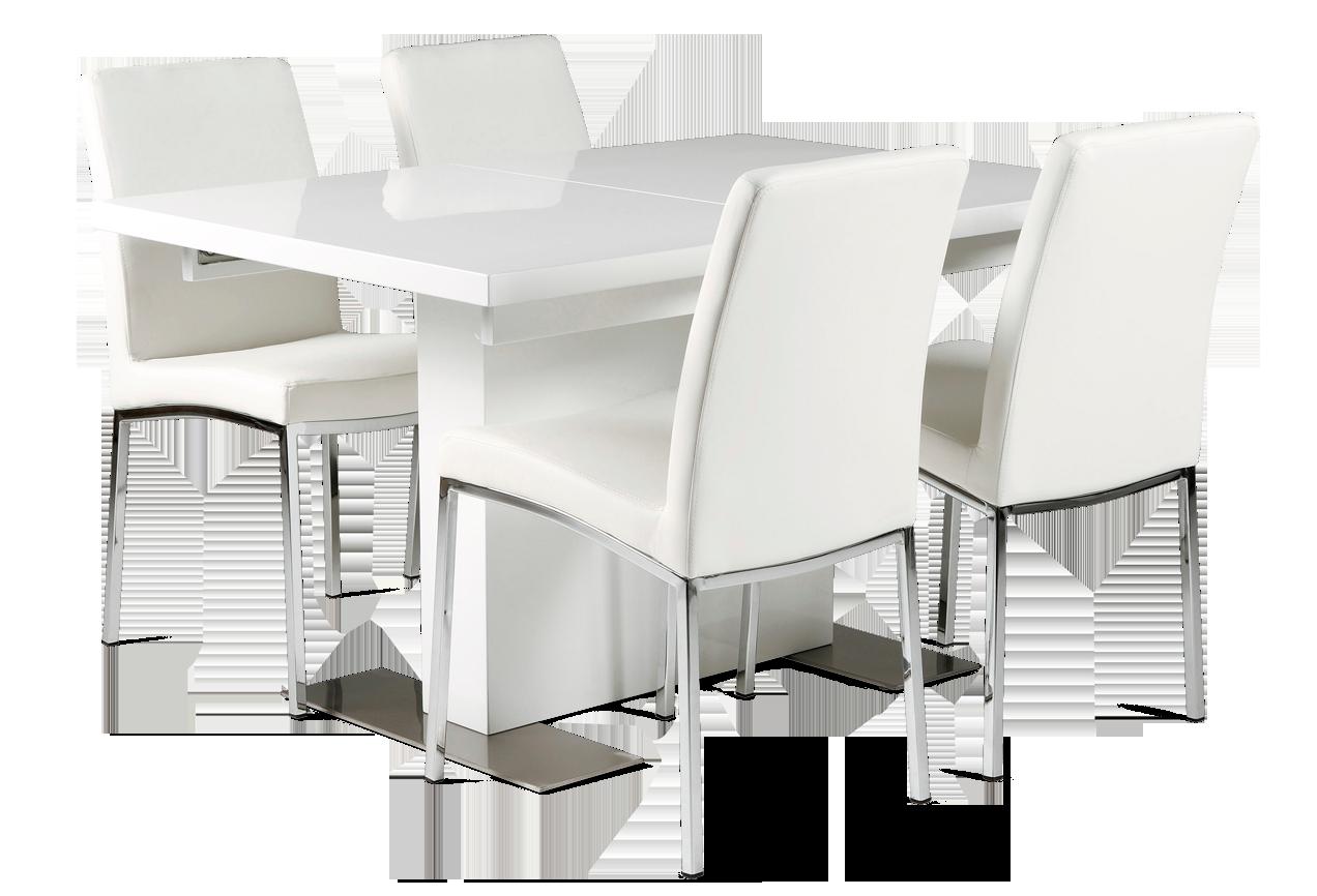BRICK-ruokapöytä ja 4 MARVIN-tuolia