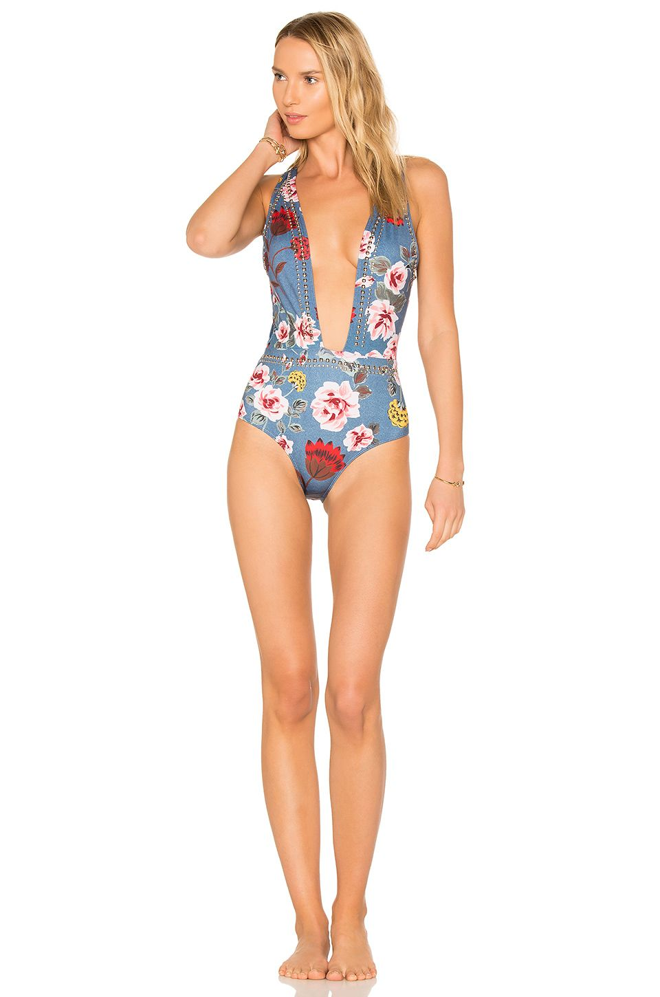 quality first on sale outstanding features BEACH RIOT X REVOLVE Lex One Piece en Flores | REVOLVE ...