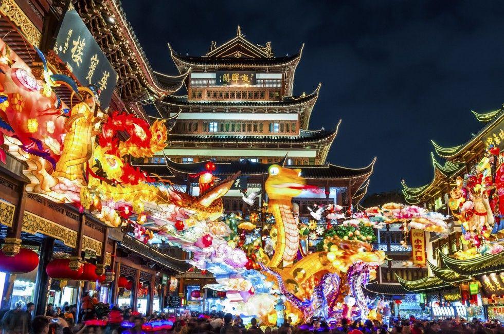 Nightlife in the Yuyuan Garden Shanghai travel, Shanghai