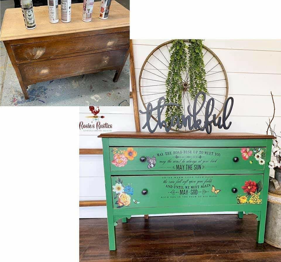 Project by @rosiesrustics Maisie & Willow Decor Transfers can be found on Amazon. #maisieandwillow_co #maisie&willow #maisieandwillowdt #decortransfers #upcycledfurniture #amazon #transfer #decor #homedecor #furnitureflip #furnituremakeover #diy #paintedfurniture #furnitureart #transformation #restyledfurniture