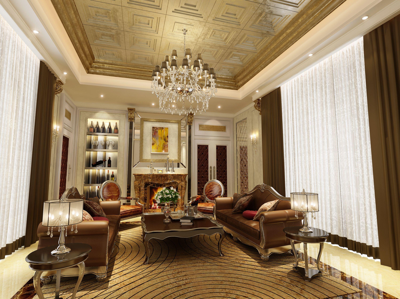 Luxury Living Room | 3D Model Part 84