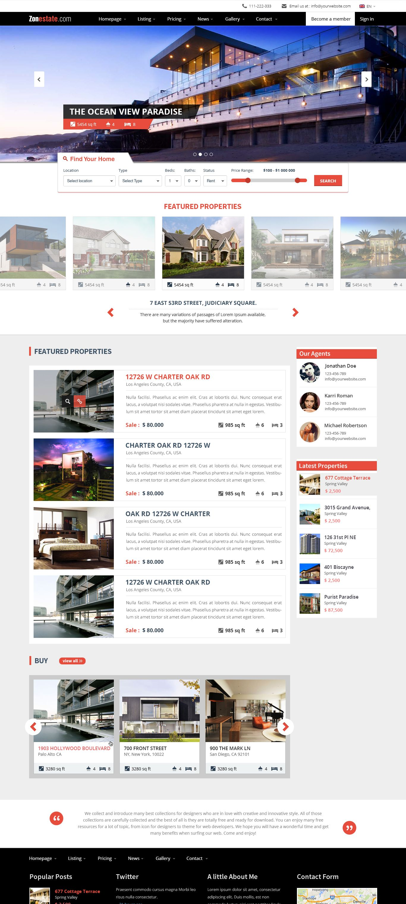 Real Estate Website Template Image Pinterest Real Estate