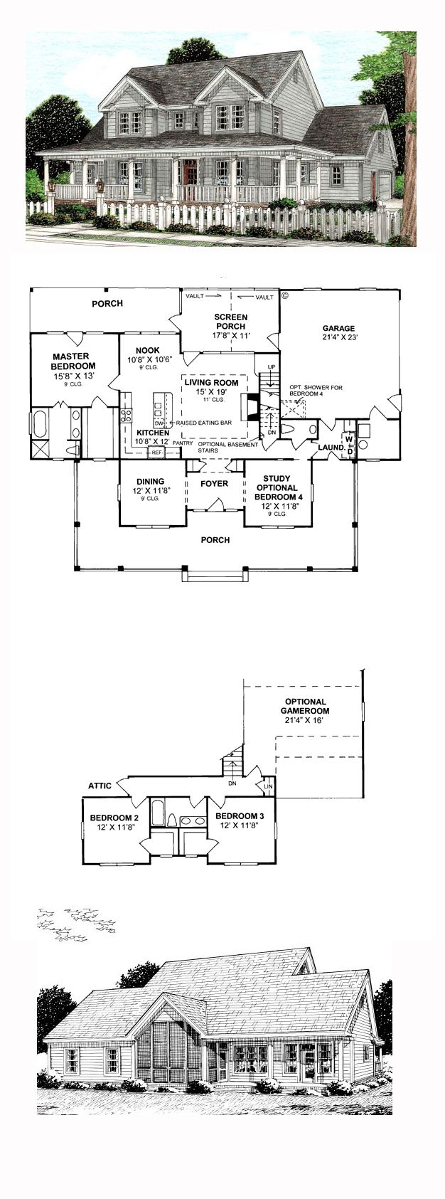 farm house plans with great rear views house home plans modern house plans with rear view woodguides