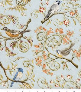 Legacy Studio Nestled In Branches Cotton Fabric Birds Allover