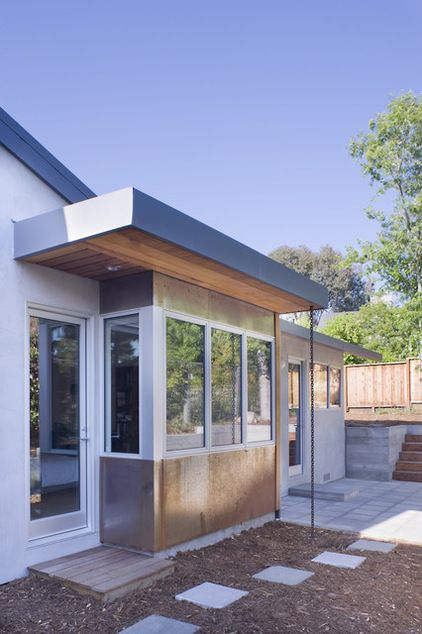 Front Door Overhang Modern Exterior Exterior Remodel Ranch Exterior