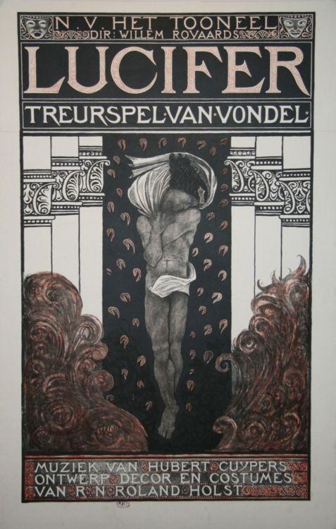 Richard Roland Holst, 1868-1938 'Lucifer', 1910, lithograph, 128 x 83 cm, edition unknown.