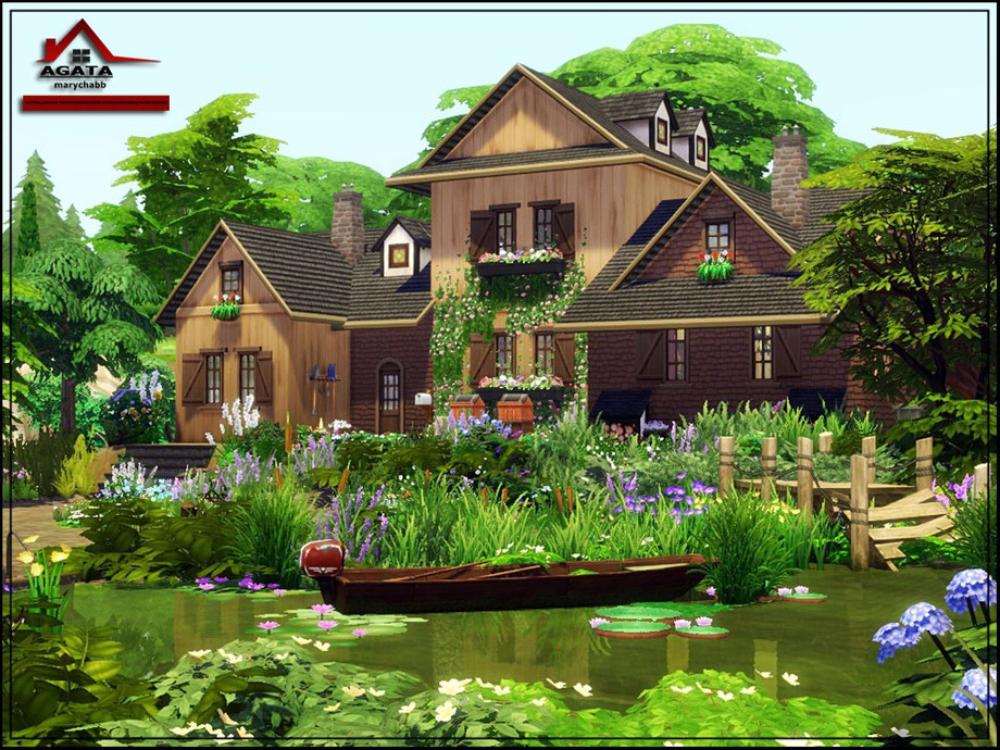 marychabb's Agata - No CC in 2020 | The sims 4 lots ... on Cc Outdoor Living id=63771