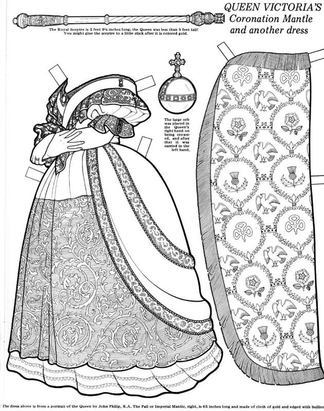 Queen Victoria Great Women Coloring Paper Dolls Paper Dolls