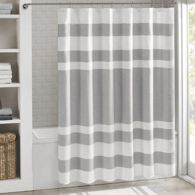 The Twillery Co Merrick Single Shower Curtain Color Gray Size