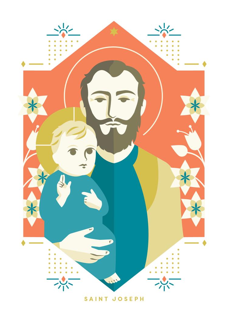 Saint Joseph Print Providential Co Devotional Goods St Joseph Saint Joseph Art Christian Prints