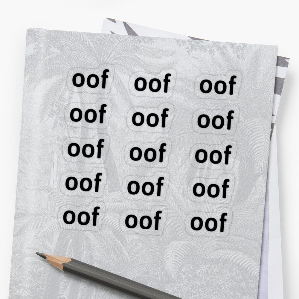 'oof sticker pack! 15 whole oofs ' Sticker by
