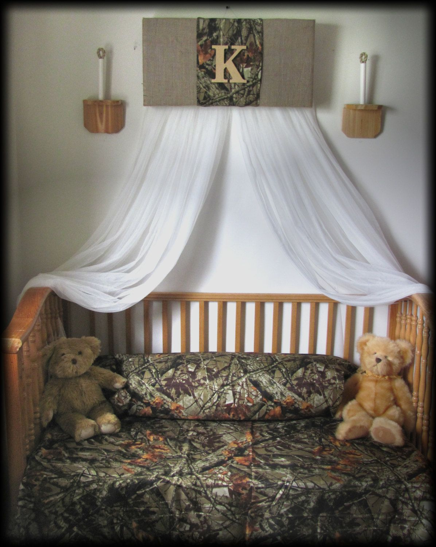 Crib Canopy Bedroom Mossy Oak Realtree cornice Camouflage
