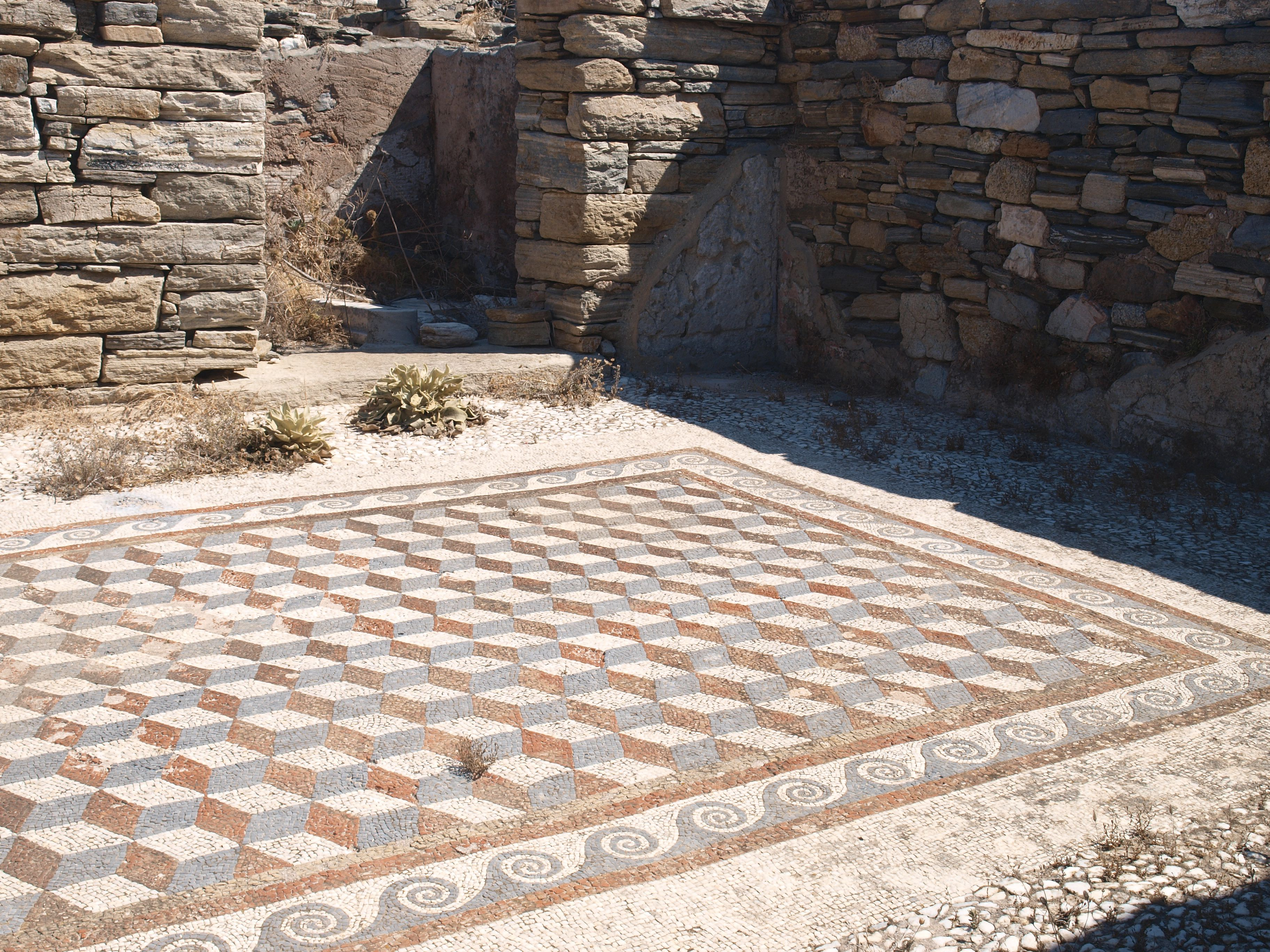 Mosaic Floor From A Roman Villa Of Ancient Corinth